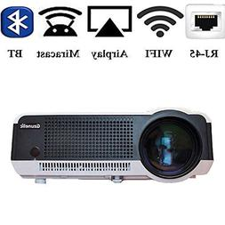 Gzunelic 4500 lumens Android Wifi 1080p Video Projector LCD