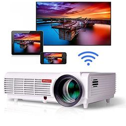 Gzunelic 3800 lumens Android Wifi 1080p Video Projector LCD