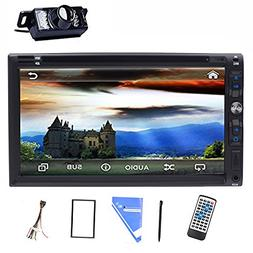 "Tmaxlife LED Back Camera 7"" Double 2 Din Car Stereo DVD CD P"