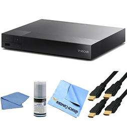 BDP-S6500 4K Upscale 3D Blu-Ray Player Bundle includes blu-r