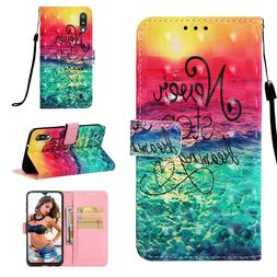 Beautiful Sea 3D Wallet Leather case cover for Samsung M10 M