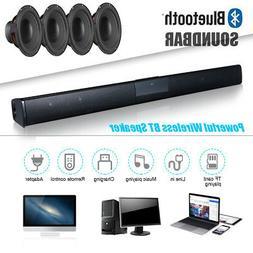 Bluetooth TV 3D Stereo Home Theater Soundbar Wireless 4*Spea