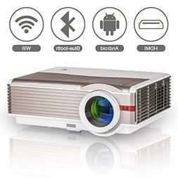 Bluetooth Wireless Projector for Home Cinema Theatre, EUG LE
