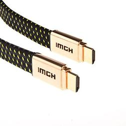 Laptone Braided HDMI 1.4a/2.0 33 Feet Long High Speed Flat g