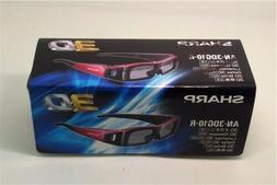 Brand New Sharp AN-3DG10-R Active 3D Glasses 2D to 3D Aquos