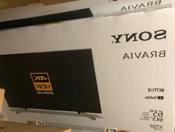 "Brand New Sony KD65X750F 65"" BRAVIA Ultra HD 4K LED HDR Smar"
