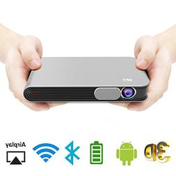 WOWOTO CAN Mini Projector Portable Video Projector DLP Suppo