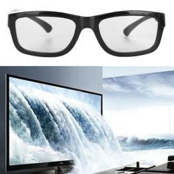 Circular Polarized Passive 3D Glasses Black Stereo For 3D TV