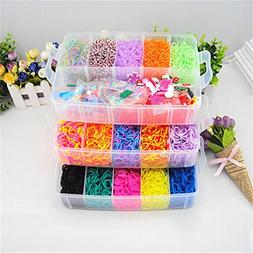 Calababy Colorful Loom Kit-15000 Rubber Bands,25 Colors,1 Lo