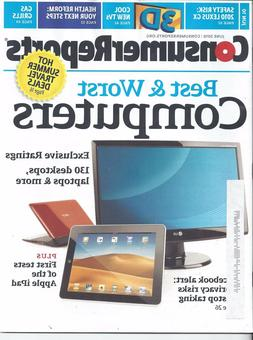 Consumer Reports Magazine June 2010 3D TV's Computers Gas Gr