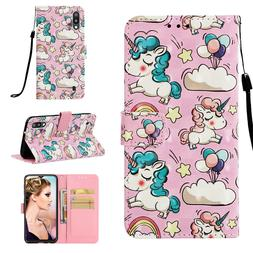Cute Unicorn 3D Wallet Leather case cover for Samsung M10 M2