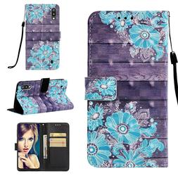 Daisy Flower 3D Wallet Leather case cover for Samsung M10 M2