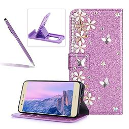 Diamond Wallet Leather Case for Huawei P10,Flip Cover for Hu