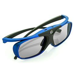 WOWOTO DLP Link 3D Glasses, Rechargeable 3D active Glasses f