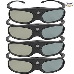 DLP Link 3D Glasses, GooDee Ultra-Clear HD 144 Hz 3D Active