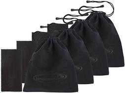 4 PACK eD 3D Glasses Storage Bag STEALTH BLACK Case for SAMS