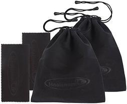 eD 3D Glasses Storage Bag STEALTH BLACK 2 PACK Case for SAMS