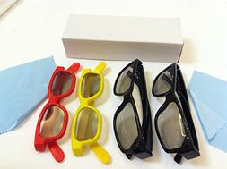 New 4 Pair Family PASSIVE 3D GLASS Pack , Total 4 Pairs Pass