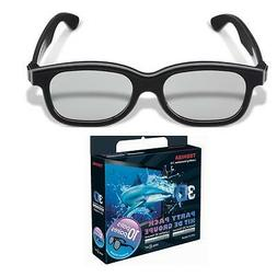 Toshiba FPTP100UP Black Natural Passive 3D Glasses Party Pac