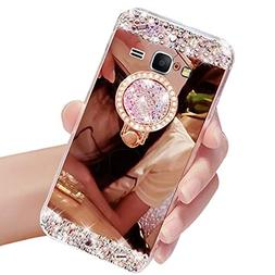 Galaxy J7 2015 Case,Vandot Luxury Crystal Rhinestone Soft TP