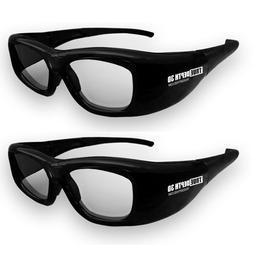 True Depth 3D Glasses for Sharp 3D TVs 2 Pairs