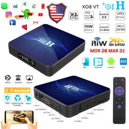H10+ Smart TV BOX Android 9.0 Quad Core 2.4G/5G WIFI 1G+8G 4