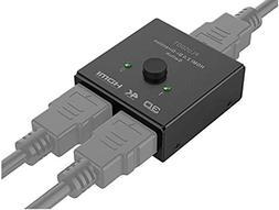 PlusDot 2-in-1 HDMI AB Switch BiDirectional Switcher, HDMI 2
