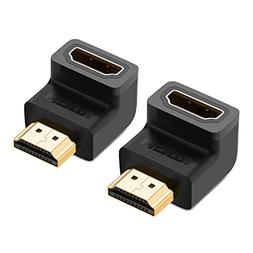 UGREEN 2 Pack HDMI Adapter Right Angle 90 Degree Gold Plated