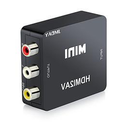 Jmday 1080p HDMI to AV 3 RCA CVBS Composite Video Audio Conv