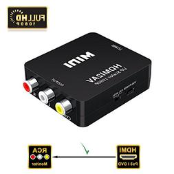 VAlinks 1080P HDMI to AV HDMI to 3RCA Composite CVBS Video A