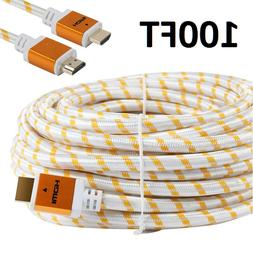 CableVantage PREMIUM HDMI CABLE 100FT 100feet V1.4 For 1080P