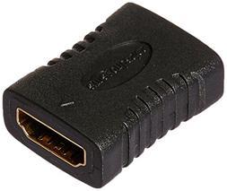 AmazonBasics HDMI Coupler , 29 x 22mm, Black
