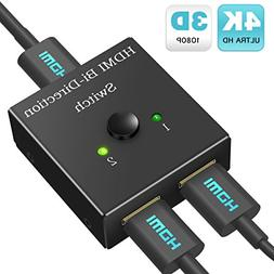 HDMI Switch Bi-Directional Switcher 1 in 2 Out/2 in 1 Out HD