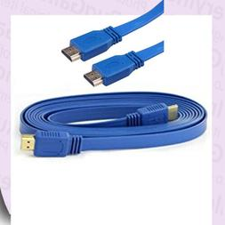 High Speed Super FLAT 4.5' HDMI Male TV Lead Ethernet 3D Ful