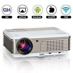 Home Wifi Movie Projector 2600 Lumen LED Multimedia Outdoor