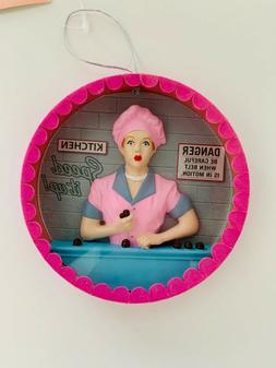 Kurt Adler I LOVE LUCY Chocolate Factory 3D Round TV Ornamen