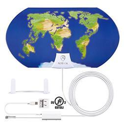 Indoor Amplified TV Antenna, ANTOP Digital HDTV Antenna, 55