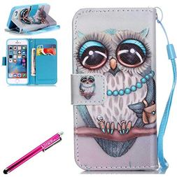 iPhone 7 Case, iPhone 7 Wallet Case, Firefish  PU Leather Fl