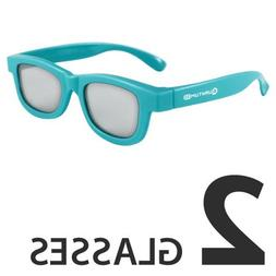 Kids Blue 3D Passive Glasses for Movie Theaters, TVs & Proje