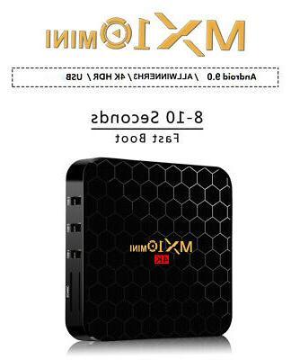 2019 MX10 MINI 4K Android Quad TV BOX US HDMI 1080p Media