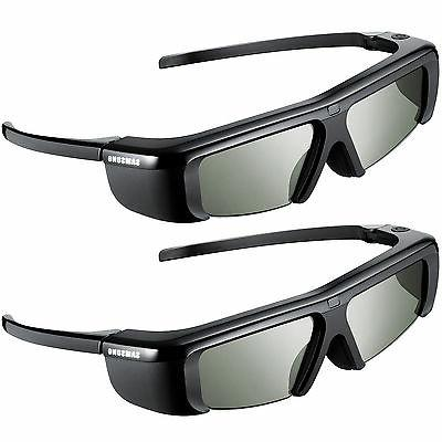 2pc original 3d tv battery operated glasses