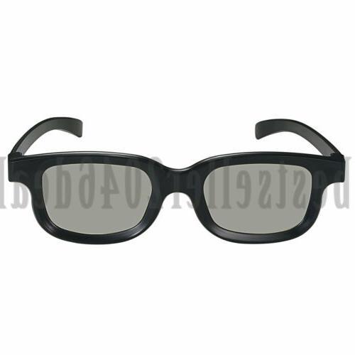 2PCS Polarized 3D TV Movies Glasses Non-flash 3D Mens Women