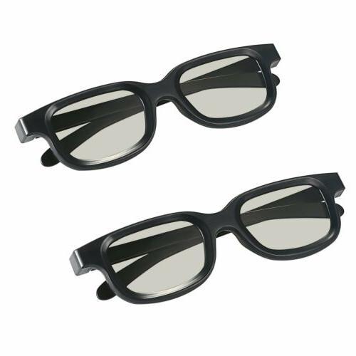 2pcs polarized passive 3d tv movies glasses