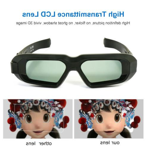 Rechargeable Active Glasses Bluetooth 3D TV LG Sony Epson US