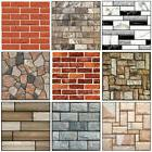 3D Brick Pattern Wallpaper Background TV Wall Sticker Home B