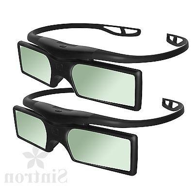 2X 3D Active Glasses for 2018 Panasonic 3D TV & TY-ER3D4MA