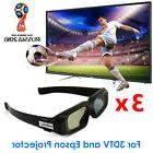 3x RF Bluetooth 3D Active Glasses Shutter for Home Theater 3