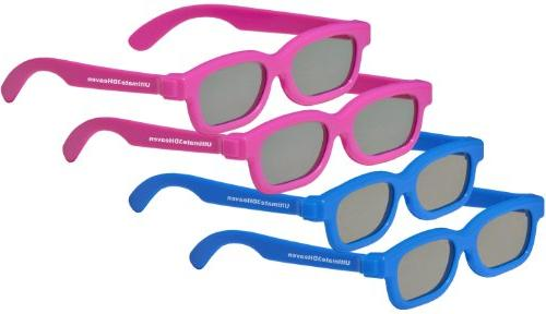 4 pairs - Childrens Passive 3D Glasses for Kids Genuine Ulti