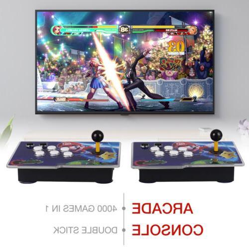 4000 Family 3D Video Games 2 Sticks Arcade Console XC819