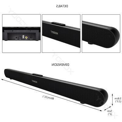40W 3D TV Sound Bar Wireless Soundbar Subwoofer